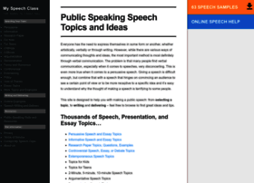 topics for public speaking class