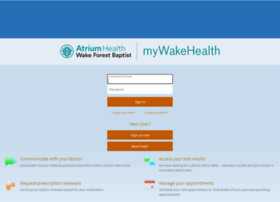 mywakehealth mywakehealth.com at WI. myWakeHealth - Login Page