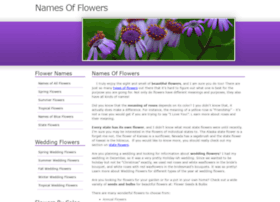 Namesofflowers.net thumbnail