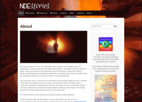 ndestories org at WI  NDE Stories | First-person experiences on the