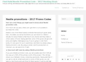 Nestlepromotioncode.info thumbnail
