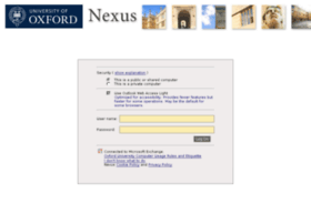 Nexus.ox.ac.uk thumbnail