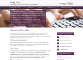 Nicky-watts-transcription-services.co.uk thumbnail