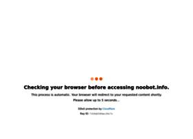 Noobot.info thumbnail