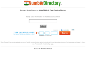 Numberdirectory.in thumbnail