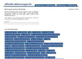 Offizielle-abkuerzungen.de thumbnail