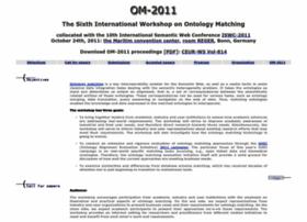 Om2011.ontologymatching.org thumbnail