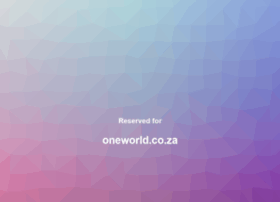 Oneworld.co.za thumbnail