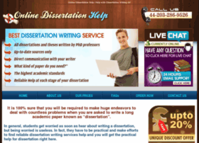 Online dissertation help database