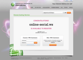 online serial ws at wi website ws your internet address for life