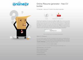onlinecvgenerator com at wi online resume generator free cv
