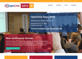 Opencms-days.org thumbnail