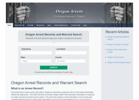 Oregonarrest.org thumbnail