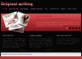 Originalwriting.org thumbnail