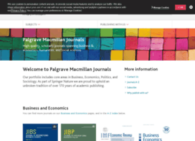 Palgrave-journals.com thumbnail