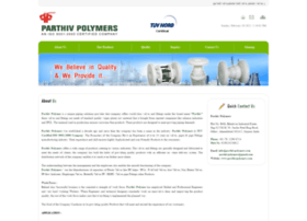 Parthivpolymers.com thumbnail