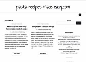 Pasta-recipes-made-easy.com thumbnail