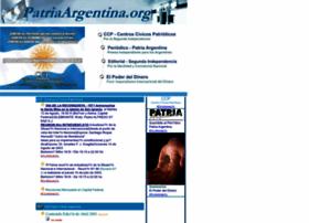 Patriaargentina.org thumbnail