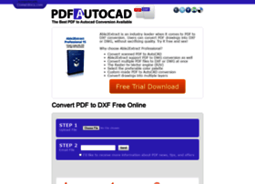 pdftodxf com at WI  Convert PDF to DXF Free Online