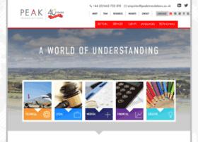 Peak-translations.co.uk thumbnail