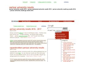 Periyaruniversityresults.in thumbnail