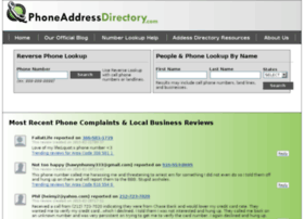Phoneaddressdirectory.com thumbnail