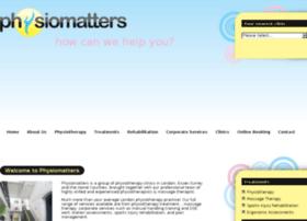 Physiomatters.org.uk thumbnail
