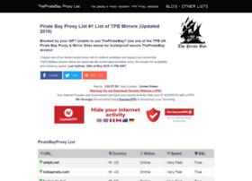 Piratebayproxylist.net thumbnail