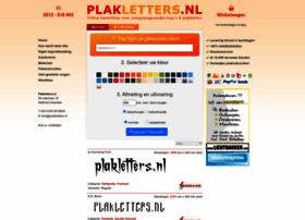 Plakletters.nl thumbnail