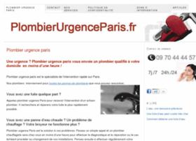 Plombierurgenceparis.fr thumbnail