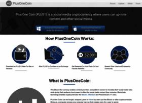 Plusonecoin.org thumbnail