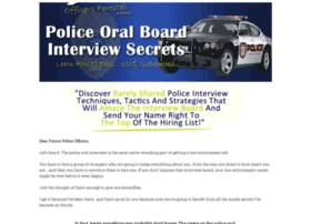Policeoralboardinterviewsecrets.com thumbnail