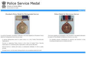 Policeservicemedals.gov.in thumbnail