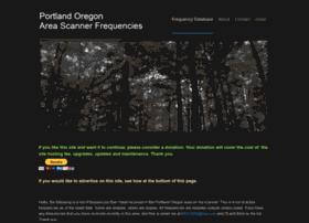 Portlandscannerfrequencies.com thumbnail