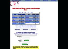 Postcodesite.co.za thumbnail