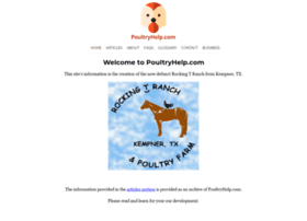 Welcome Page - Poultryhelp.com - Rocking T Ranch and PoultryFarm ...