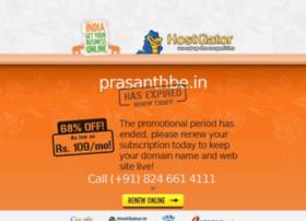 Prasanthbe.in thumbnail