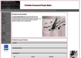 Printablecrosswordmaker.com thumbnail