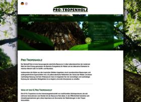 Pro-tropenholz.de thumbnail