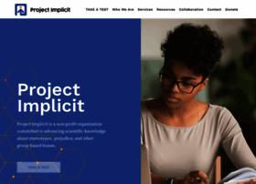 Projectimplicit.net thumbnail