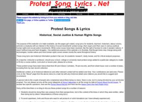 Protestsonglyrics.net thumbnail