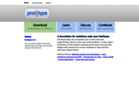 Prototypejs.org thumbnail