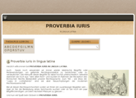 Proverbiaeiuris.de thumbnail
