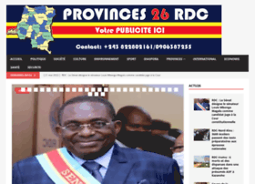 Provinces26rdc.net thumbnail