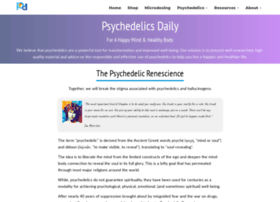 Psychedelicsdaily.com thumbnail