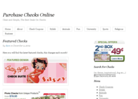 Purchasechecksonline.com thumbnail