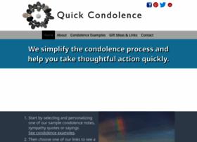 Quickcondolence.com thumbnail