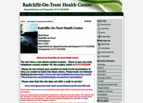 Radcliffeontrenthealthcentre.co.uk thumbnail