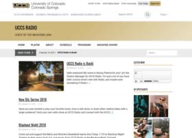 Radio.uccs.edu thumbnail