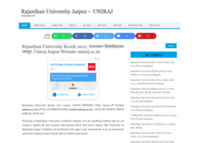 Rajasthanuniversity.in thumbnail